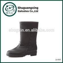 zapatos para hombres botas de PVC impermeables botas claras de lluvia de pvc A-909