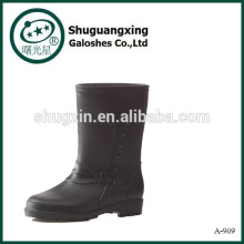 обувь для мужчины ПВХ водонепроницаемый загрузки мужчины ясно ПВХ дождь сапоги-909