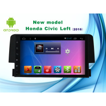 Android System 9 Zoll Navigation GPS für Honda Civic Auto DVD Spieler mit Bluetooth / TV / WiFi