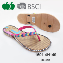 Hot-Selling High Quality Ladies Colorful Plastic Flip Flop