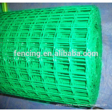 Green PVC Coated Holland Wire Mesh / pvc coated euro fencing
