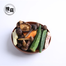 Rich nutrition vegetable mushroom chips freeze dried food
