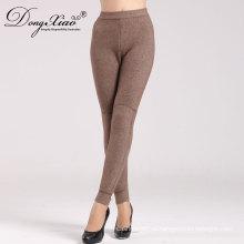 nuevo estilo mantener pantalones de cachemir de mujer cálida invierno conveniente