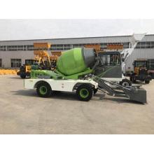 4 CBM self loading concrete mixer truck