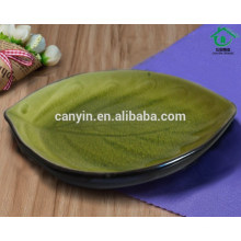 New Design Green Custom Printed Ceramic Stoneware Plate