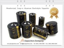 jb Capacitors JNE Miniaturized Snap-in Aluminum Electrolytic Capacitor