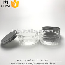 200ml durchsichtiges Kunststoff-PET-Glas mit Aluminiumdeckel