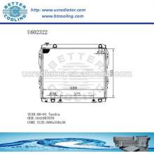 Radiador Para TOYOTA 1641007070 TUNDRA 00-04 Fabricante y Venta Directa