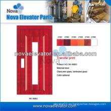 Puerta semiautomática de ascensor para ascensores de pasajeros pequeños
