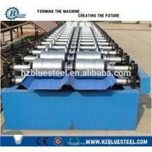 Hot Sale Bonne qualité Full Auto PLC Industrial Self Lock Galvanisé Metal Aluminium Zinc Roofing Sheet Making Machine à vendre