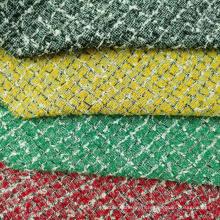 Tissu de mode à carreaux bouclés avec des boucles