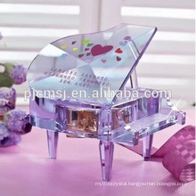 beautiful engraved crystal piano for wedding & birthday gifts favor .crystal gifts