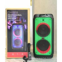 CH 8818 High Quality 8 Inch*2 Party Karaoke Dj High Quality Trolley  Karaoke Speaker