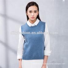diseños de chaleco chaleco de cachemira de punto liso para mujer
