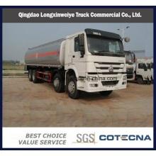 Heavy Capacity 340HP 8X4 Sinotruk Chassis Fuel Tanker Trucks