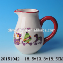 Ceramic decorative water jugs with santa claus for christmas party