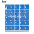 18 Türen Barcodeschloss LED-Bildschirm mit elektronischen Schlössern für Schließfächer