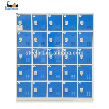 Armario de código de barras de 18 puertas Pantalla LED con cerraduras electrónicas para taquillas