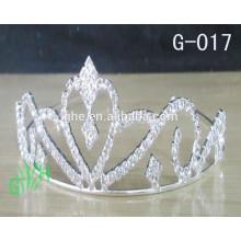 Novo estilo grossista de metal banhado de prata coroa de beleza