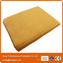 Chiffon de nettoyage magique de tissu non-tissé perforé par aiguille de couleur jaune