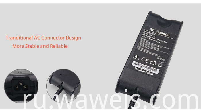 19.5V 3.34A Power Adapter for DELL