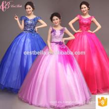 Vestido de fiesta de quinceañera vestido de raso de vestido de bola