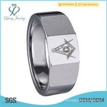Banda de acero inoxidable Masonic Magnificent Freemason Ring Hombres Mujeres
