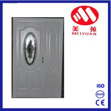 Diseño caliente de la puerta de entrada del acero de Jordania caliente con el vidrio