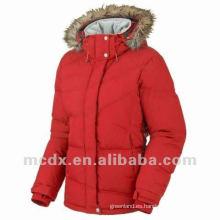 Brillante moda de la marca abajo abrigo acolchado