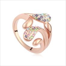 VAGULA oro anillo de dedo de moda de diamantes de imitación de la galjanoplastia