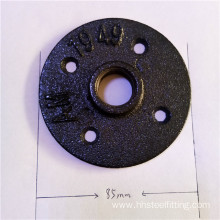 floor flange 1/2 black malleable iron
