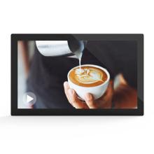 21.5 inch Lcd advertising menu board display wall hanging digital signage for restaurant