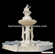 large White marble ourdoor human sculptures water fountains