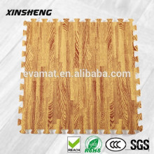 easy to clean waterproof EVA foam thick wood grain interlocking puzzle floor mats home use