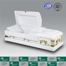 LUXES caixões brancos de madeira de Álamo