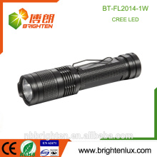 Factory Supply CE ROHs Mini Aluminum Alloy 1W Small Pocket Size Emergency powerful torches with clip