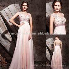 NY-2552 Mädchen-reizvolles rosafarbenes zierliches langes formales Kleid