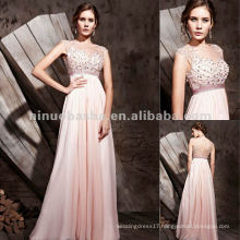 NY-2552 Girls Sexy Pink Petite Long Formal Dress