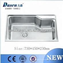 DS7345 CE aprobó fregadero de cocina de acero inoxidable fregadero cuenco doble