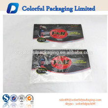 Plastic fishing lure bags with window transparent plastic food bags