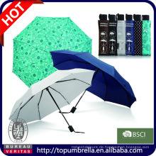 Gute Qualität Soem- und ODM-Regenschirm-Lieferant für fördernden Regenschirm des Geschenk-3 Falten