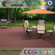 Impermeable Antideslizante WPC Material del suelo del jardín al aire libre