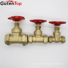 Gutentop China Supplier 15mm-32mm Compression Connector Brass Gate Valve