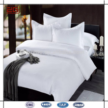 2015 Neue Luxus Design Doppelte Nähte 100 Baumwolle Plain White Hotel Bettwäsche