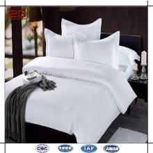 2015 Nuevo diseño de lujo de doble costura 100 algodón blanco liso hoja de cama