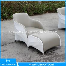 Cheap ao ar livre PU couro único assento cadeira do sofá