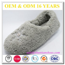 New design fluffy woman indoor plush slipper shoe