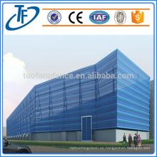 Compresión contra el polvo del viento para la protección del edificio