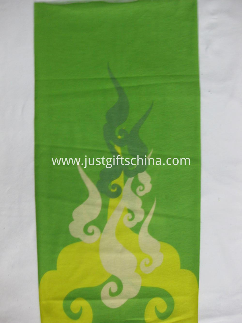 Custom Full Color Printed Polyester Bandanas - Green (2)