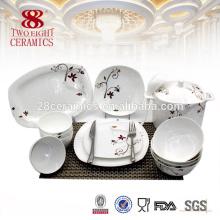 Guangzhou cerámica de cerámica de cerámica de 72 piezas cena con flores